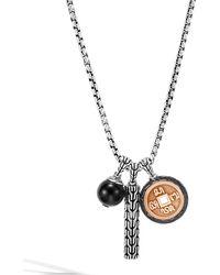 John Hardy - Men's Classic Chain Triple-pendant Necklace - Lyst