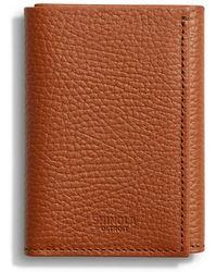 Shinola - Men's Luxe Grain Leather Tri-fold Wallet - Lyst