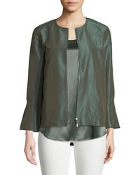 Lafayette 148 New York - Johnsie Empirical Tech Cloth Zip Jacket - Lyst
