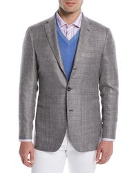 Kiton - Men's Textured Weave Three-button Blazer - Lyst