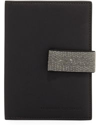 Brunello Cucinelli - Leather Mini Wallet With Monili Snap - Lyst