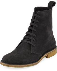 Bottega Veneta - Men's Suede Lace-up Boots - Lyst
