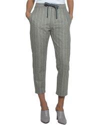 Eleventy - Pinstriped Wool Drawstring Pants - Lyst