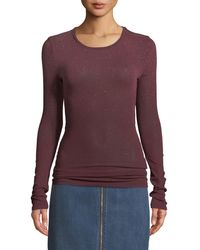Current/Elliott - The Hallen Speckled Long-sleeve Top - Lyst