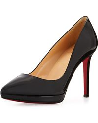 ba1ae09035f1 Lyst - Christian Louboutin  pigalle Plato  Pointy Toe Pump in Black