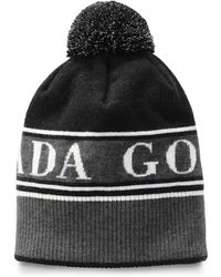 9b5a90c20c9 Lyst - Gucci Pompom Ribbed-knit Beanie Hat in Black for Men