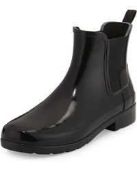 HUNTER - Original Refined Gloss Chelsea Rain Boot - Lyst