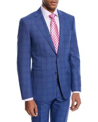 Canali - Super 130s Plaid Wool Two-piece Suit - Lyst