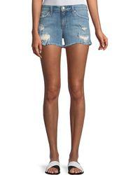 Joe's Jeans - Ozzie Distressed Denim Shorts - Lyst