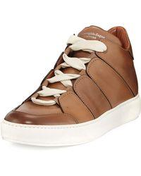 Ermenegildo Zegna - Men's Tiziano Runway Leather High-top Sneakers - Lyst