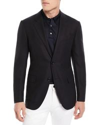 Ermenegildo Zegna - Solid Trofeo Wool Two-button Blazer Jacket - Lyst