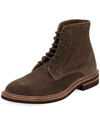 Brunello Cucinelli - Kude Suede Lace-up Boot - Lyst