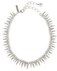 Oscar de la Renta Crystal Sea Urchin Necklace - Metallic