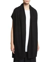 Shamask - Open-Front Long Sweater Vest - Lyst