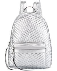 Rebecca Minkoff - Pippa Large Quilted Metallic Nylon Backpack - Lyst