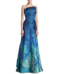 Rene Ruiz - Strapless Textured Ball Gown - Lyst