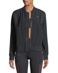 Under Armour - Mixed-media Woven Bomber Jacket - Lyst