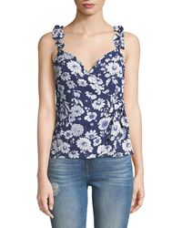 Likely - Marin Sleeveless Floral Ruffle Top - Lyst