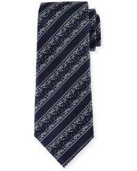 Ermenegildo Zegna   Pixelated Twill Striped Silk Tie   Lyst