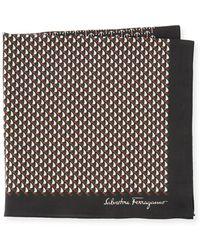 Ferragamo - Sailboat Cotton Pocket Square - Lyst
