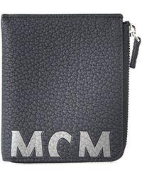 f0b76117f9d6 ... mcm bifold internal contrast 8cc wallet in blue for men lyst ...