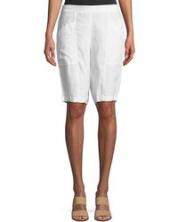Eileen Fisher - Organic Linen City Shorts - Lyst