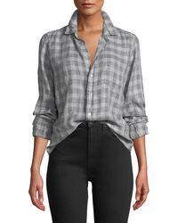 9c30ff35 Frank & Eileen - Long-sleeve Plaid Linen Button-down Top - Lyst
