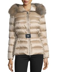 Moncler - Tatie Fur-Trimmed Quilted Down Jacket - Lyst
