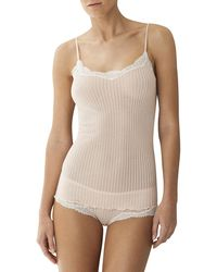 Zimmerli | Maude Ribbed Lace-trim Camisole | Lyst