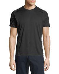 Emporio Armani - Men's Ea7 Ventus Logo-trim Wicking T-shirt - Lyst