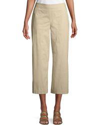 Eileen Fisher - Stretch Poplin Wide-leg Cropped Trousers - Lyst