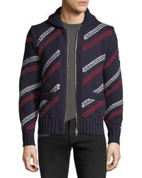 Moncler Gamme Bleu - Stripe Knit Cardigan - Lyst
