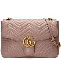 3f5f8d0b83d5 Gucci - GG Marmont Large Chevron Quilted Leather Shoulder Bag - Lyst