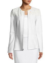 St. John - Caris Knit Jewel-neck Jacket - Lyst