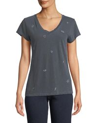 Sundry - Icons V-neck Graphic Tee - Lyst