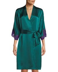Lise Charmel - Splendeur Lace-trim Silk-blend Robe - Lyst