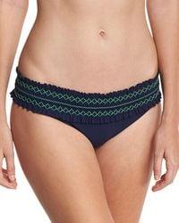 Tory Burch - Costa Embroidered Hipster Swim Bikini Bottom - Lyst