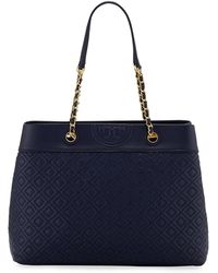 Tory Burch - Fleming 3-compartment Leather Shoulder Tote Bag - Lyst