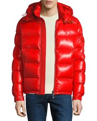 Moncler - Men's Maya Shiny Down Puffer Jacket With Hood - Lyst