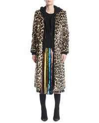 Alice + Olivia - Kylie Hoodie Long Leopard Faux-fur Coat - Lyst