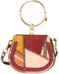 Chloé | Nile Small Whipstitch Bracelet Bag | Lyst