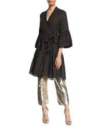 56e7e002dac9c Figue - Caroline Metallic Dot Kimono-style Dress - Lyst