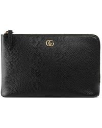 c68aacf8c23 Lyst - Gucci Marmont Petite Textured-leather Wallet in Pink