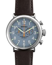 Shinola - Men's 47mm Runwell Chrono Watch - Lyst