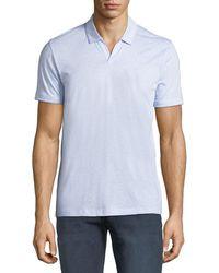 BOSS - Men's Fine Stripe Cotton/linen Polo Shirt - Lyst