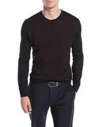 Stefano Ricci - Men's Geometric-pattern Cashmere Sweater - Lyst