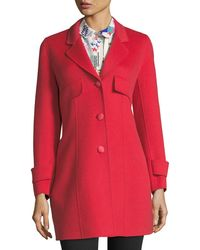 Emporio Armani | A-line Button-front Wool-cashmere Coat | Lyst