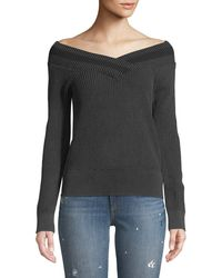 Rag & Bone - Dawn Off-the-shoulder Knit Sweater - Lyst