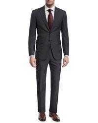 Brioni - Herringbone Striped Wool Two-piece Suit - Lyst