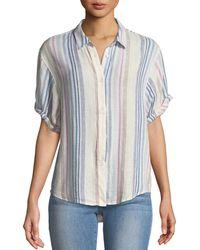 Splendid - Arco Iris Striped Button-front Shirt - Lyst
